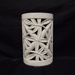 Bambuszleveles fali lámpatest