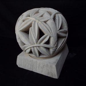 Bambuszleveles kerti gömblámpa test