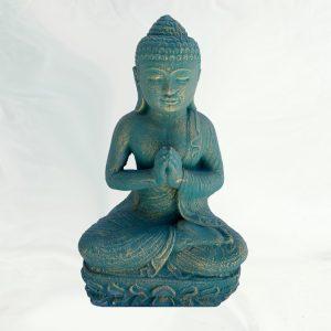 Imádkozó Buddha – türkiz
