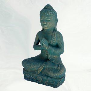 Imádkozó Buddha - türkiz