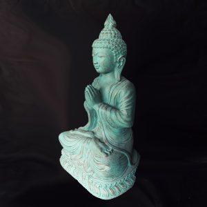 Zöld-arany imádkozó Buddha