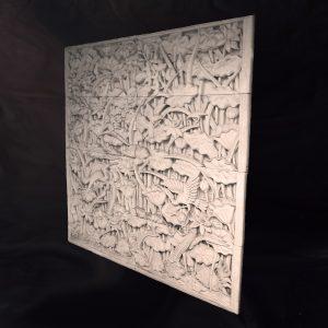 Lótuszvirág fali kép, 200x200cm