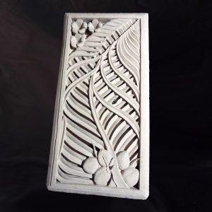 Kókuszpálma leveles áttört fali kép