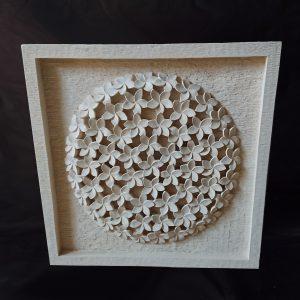 Élet virága - Frangipani 3D faragvány