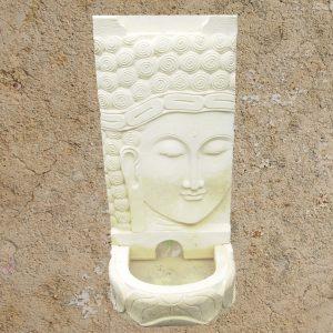 Fehér Buddha vízfal