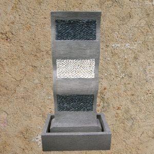 Hullám kőbetét ablakos vízfal