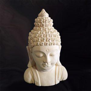 Buddha mellszobor – mészkő
