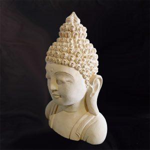 Buddha mellszobor - mészkő