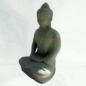 Meditáló Buddha – zöld-arany